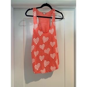 Eyeshadow Coral Tank with White Hearts